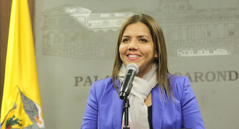 María Alejandra Vicuña, vicepresidenta encargada de Ecuador