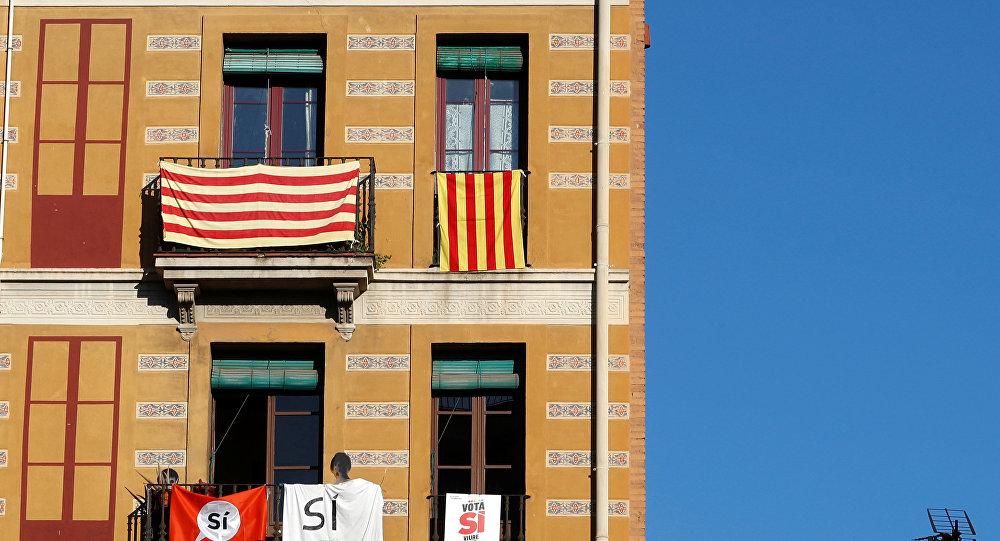 Banderas de Cataluña en Barcelona