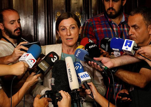 Carme Forcadell, la presidenta del Parlamento catalán
