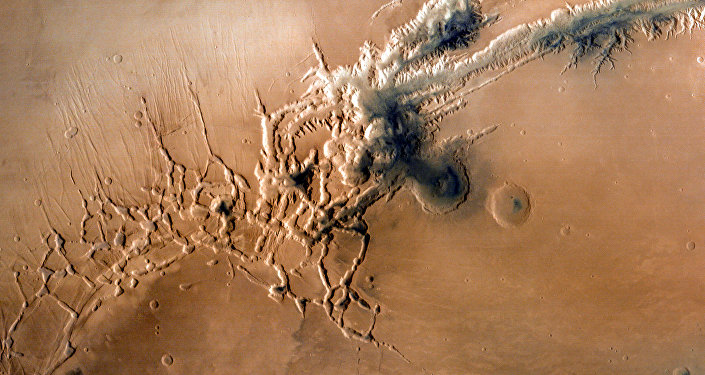 Valles Marineris, el sistema de cañones en la superficie del Marte (imagen referencial)