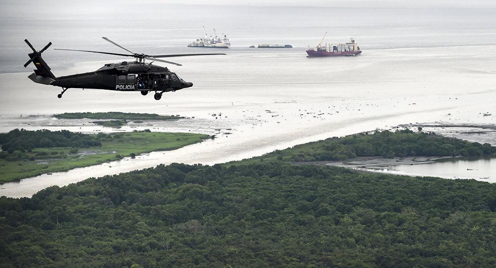Un helicóptero de la policía antidrogas de Colombia (archivo)