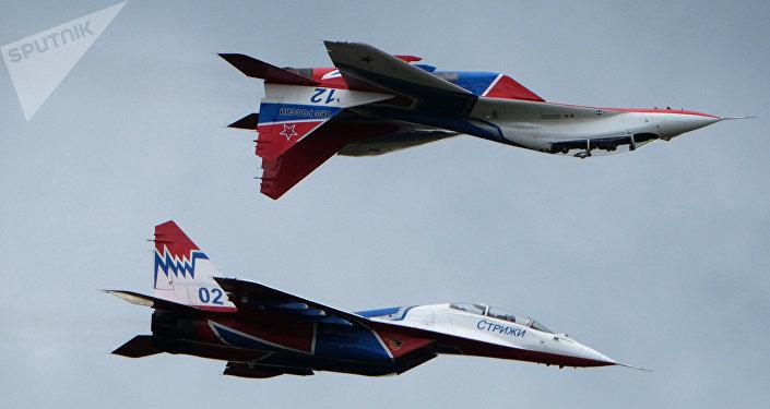 Los aviones rusos MiG-29