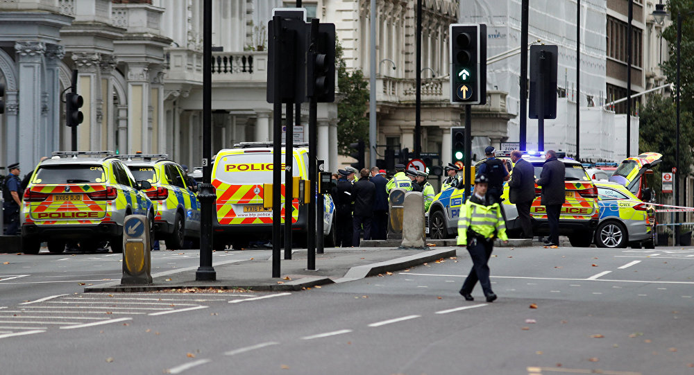 Auto atropella varios peatones cerca del Museo de Historia Natural de Londres
