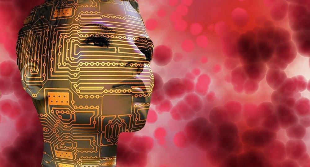 Unas caras con microcircuitos (imagen ilustrativo)