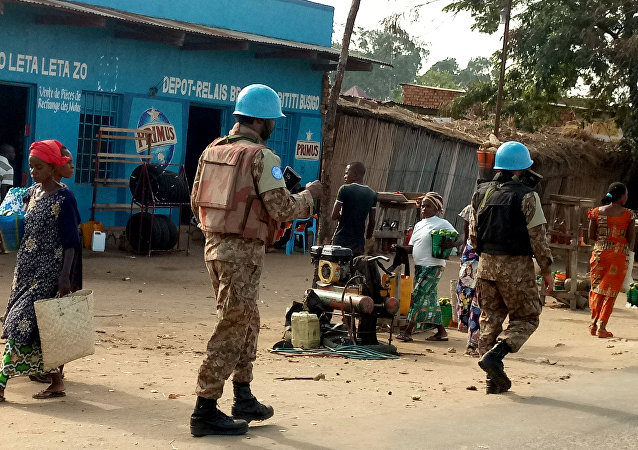 Cascos azules de la Misión de la ONU en la República Democrática del Congo