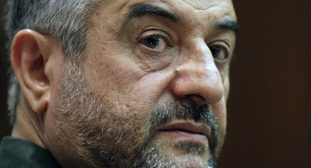 El general Mohamad Ali Jafari, comandante de la Guardia Revolucionaria de Irán, 16 de septiembre de 2012