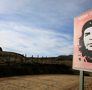 El retrato del 'Che' en la Higuera, Bolivia