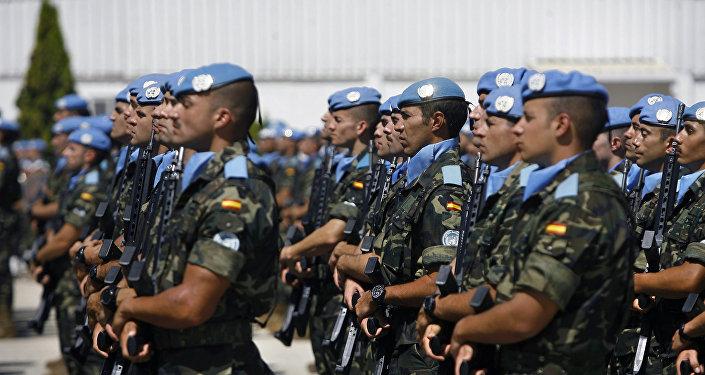 Cascos azules de la ONU (imagen referencial)