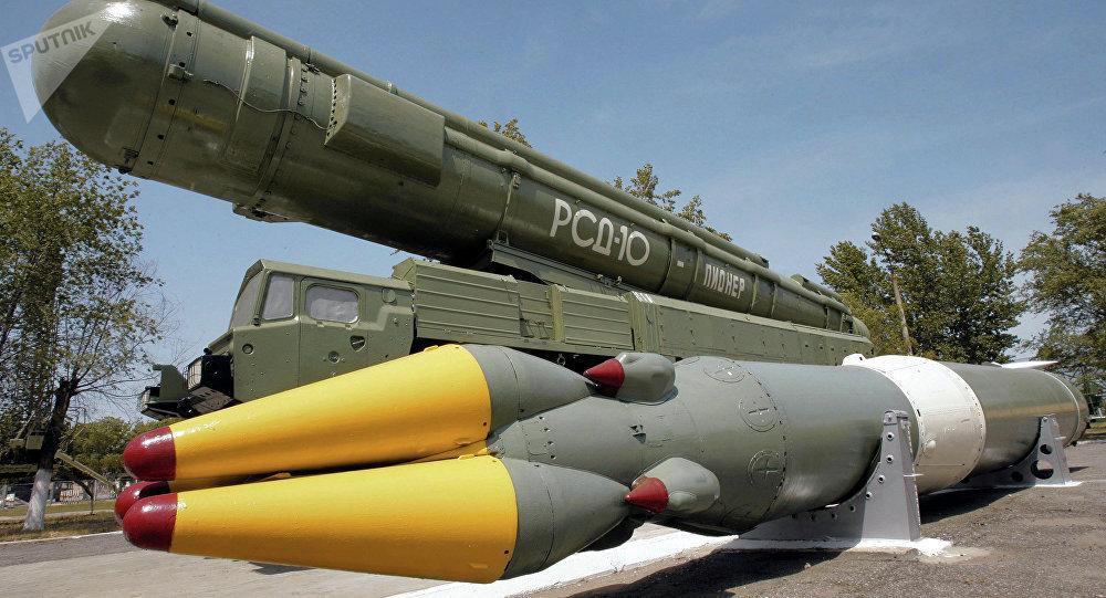 El sistema de misiles de alcance medio Pioner destruido de acuerdo con Tratado INF
