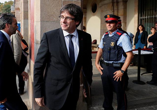 Carles Puigdemont, el presidente cesado de Cataluña (archivo)