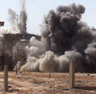 Una explosión en Siria (imagen referencial)