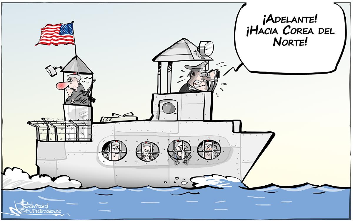 Una 'prisión flotante' estadounidense se dirige hacia Corea del Norte