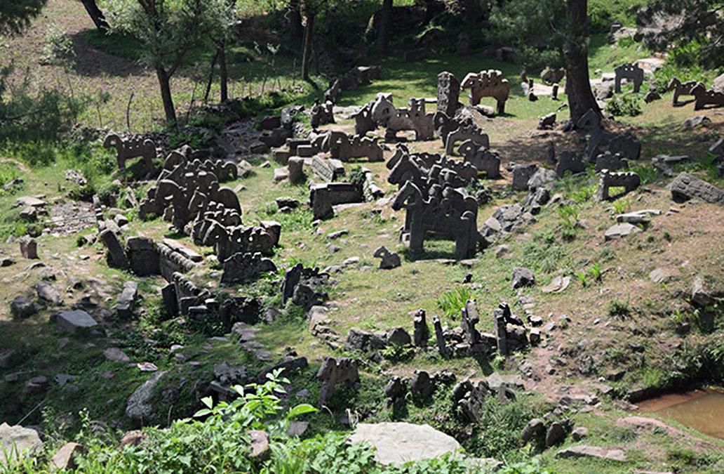 Las figuras de piedra encontradas en Himalaya