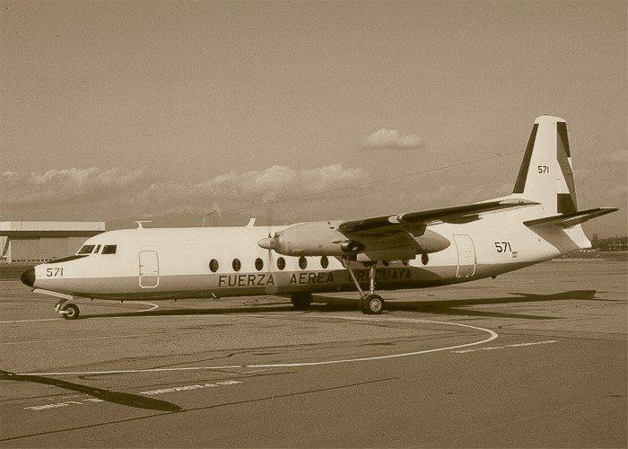 El Fokker F27 que se estrelló en los Andes