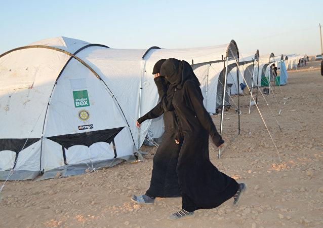 Un campo de refugiados en la ciudad siria de Ayn Issa
