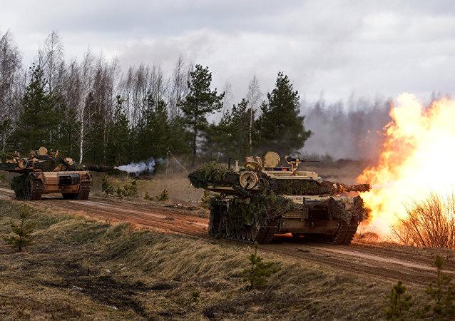 Tanques estadounidenses  M1 Abrams