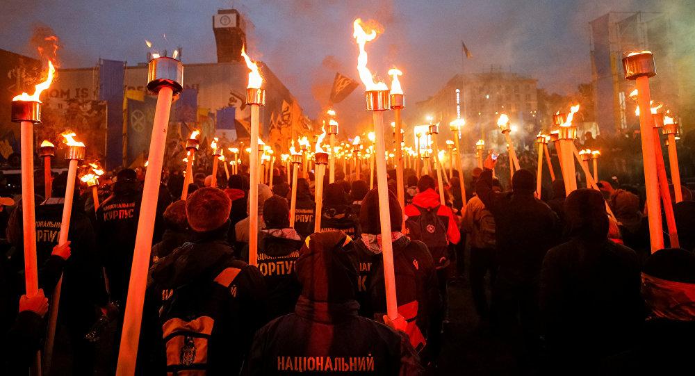 Marcha de nacionalistas en Kiev
