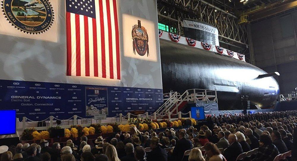 El nuevo submarino estadounidense USS South Dakota