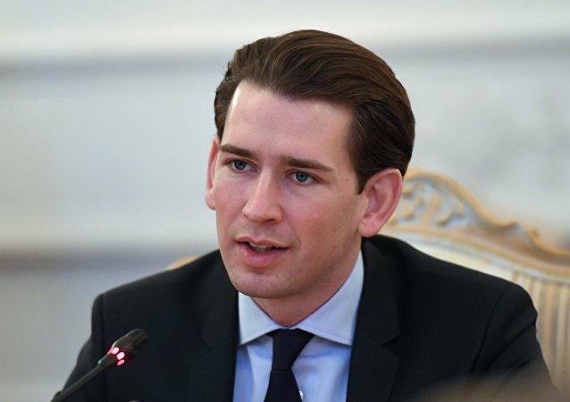 Sebastian Kurz, ministro de Exteriores de Austria y líder del Partido Popular Austriaco (OVP)