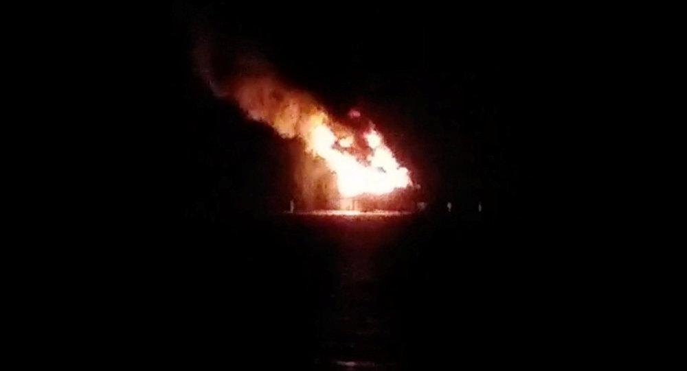Explosión en plataforma petrolera deja al menos siete heridos — Louisana