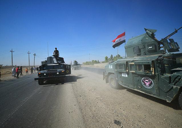 Tropas iraquíes en la región de Kirkuk