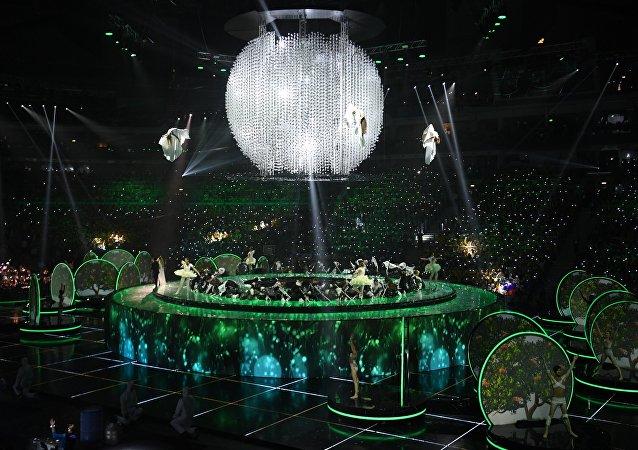 La ceremonia de apertura del XIX Festival Mundial de la Juventud y los Estudiantes