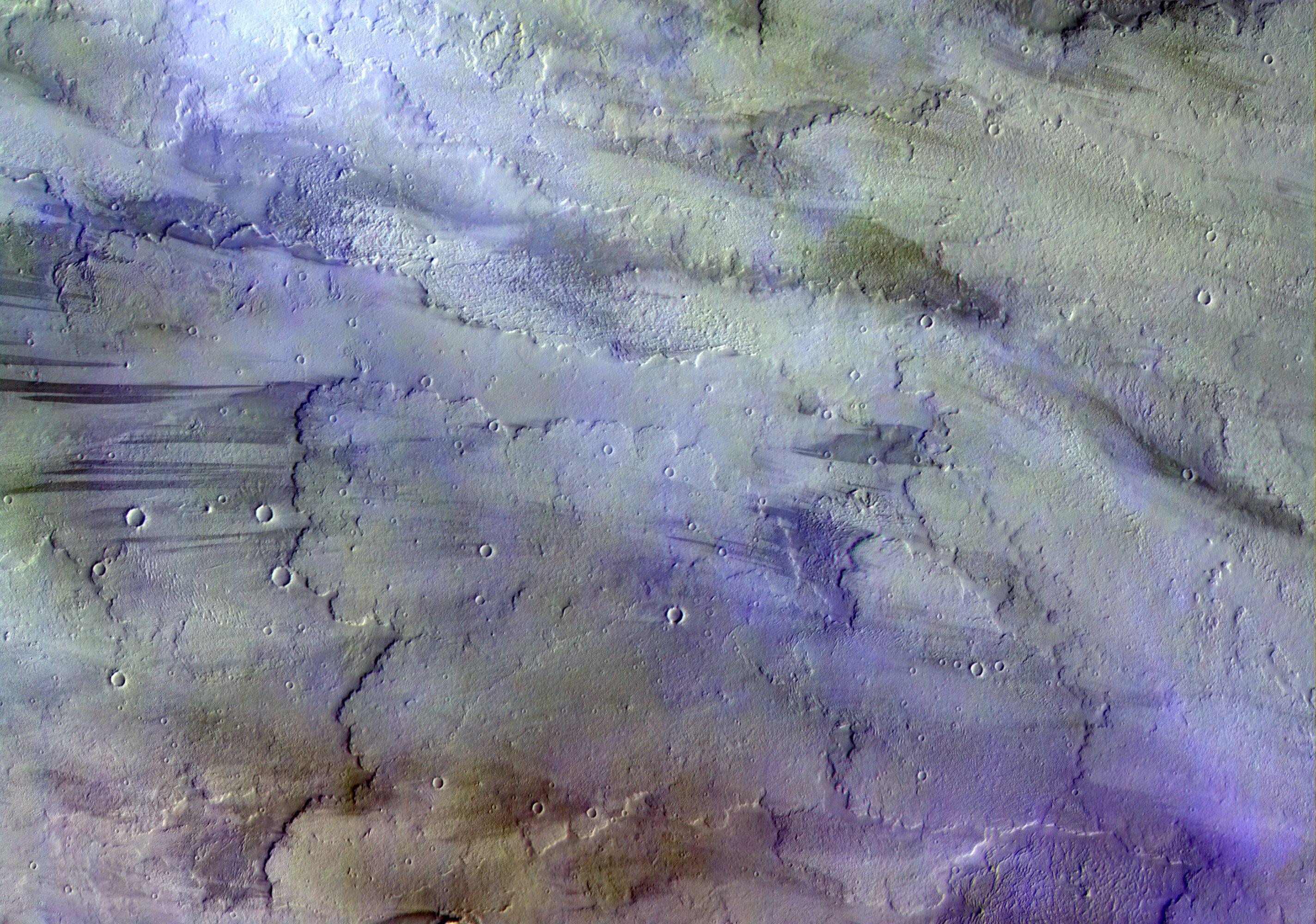 Foto de Marte en color