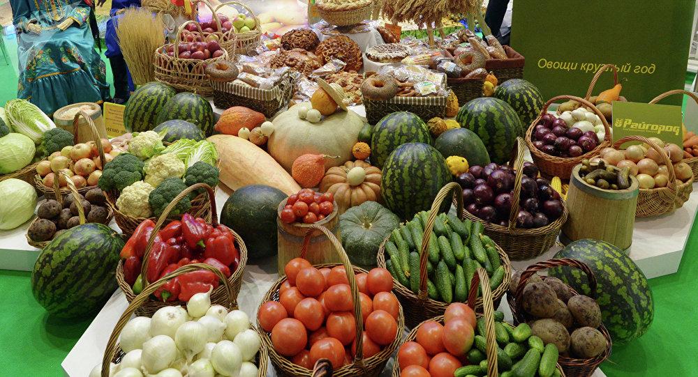 Exhibición agraria-industrial de los productos rusos