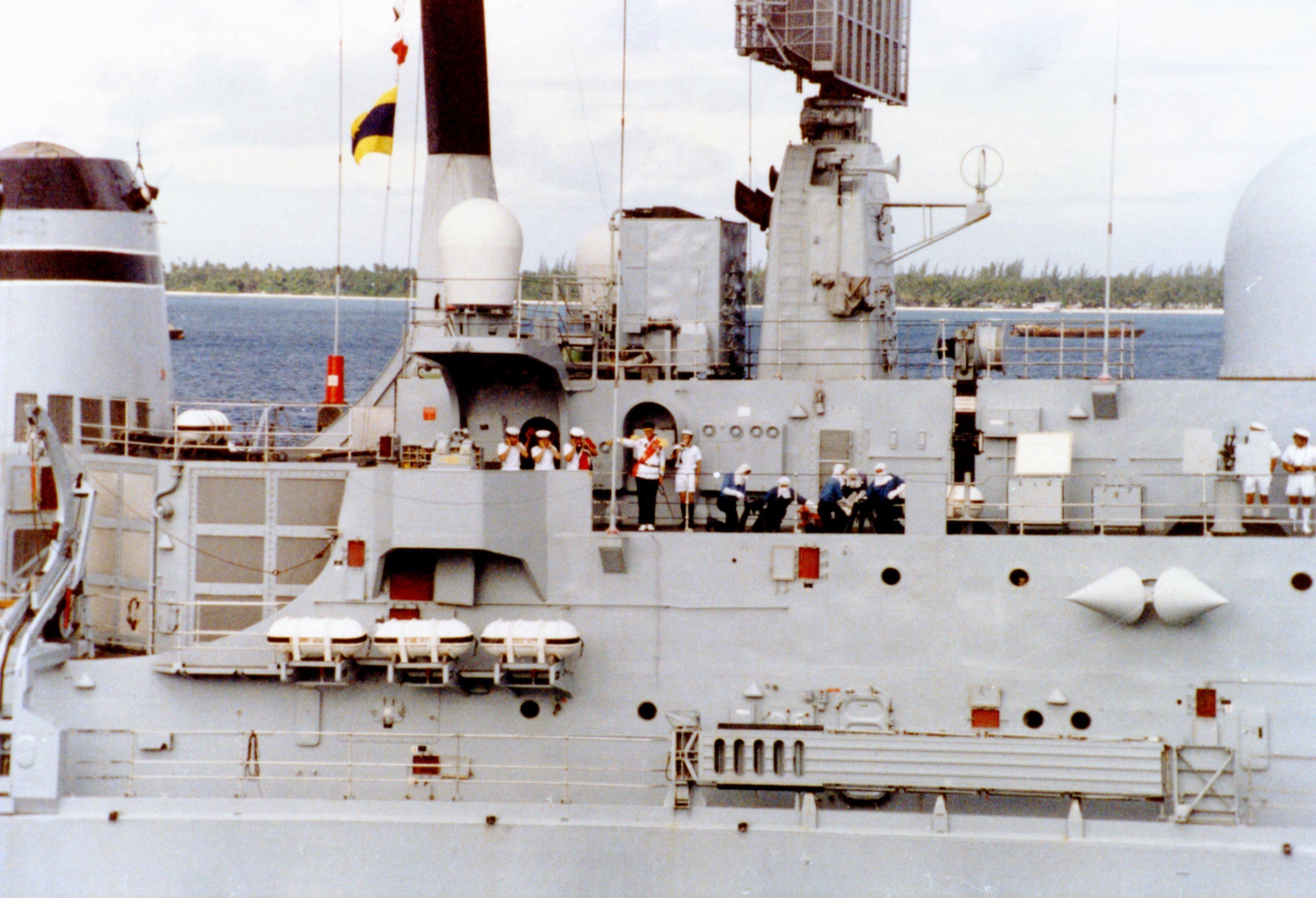 El HMS Sheffield en febrero de 1982.