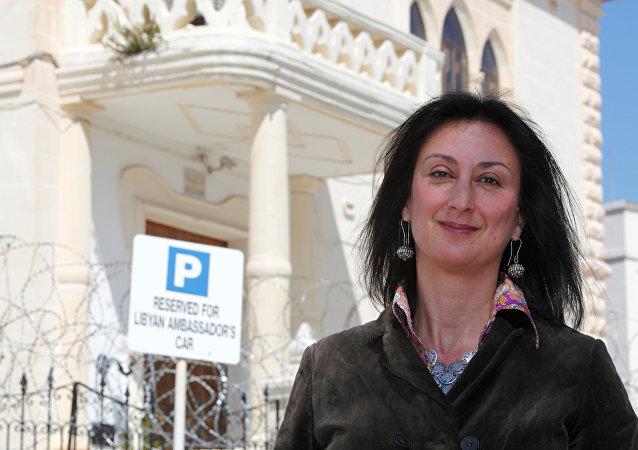 Daphne Caruana Galizia, periodista maltesa asesinada con un coche bomba el 16 de octubre de 2017