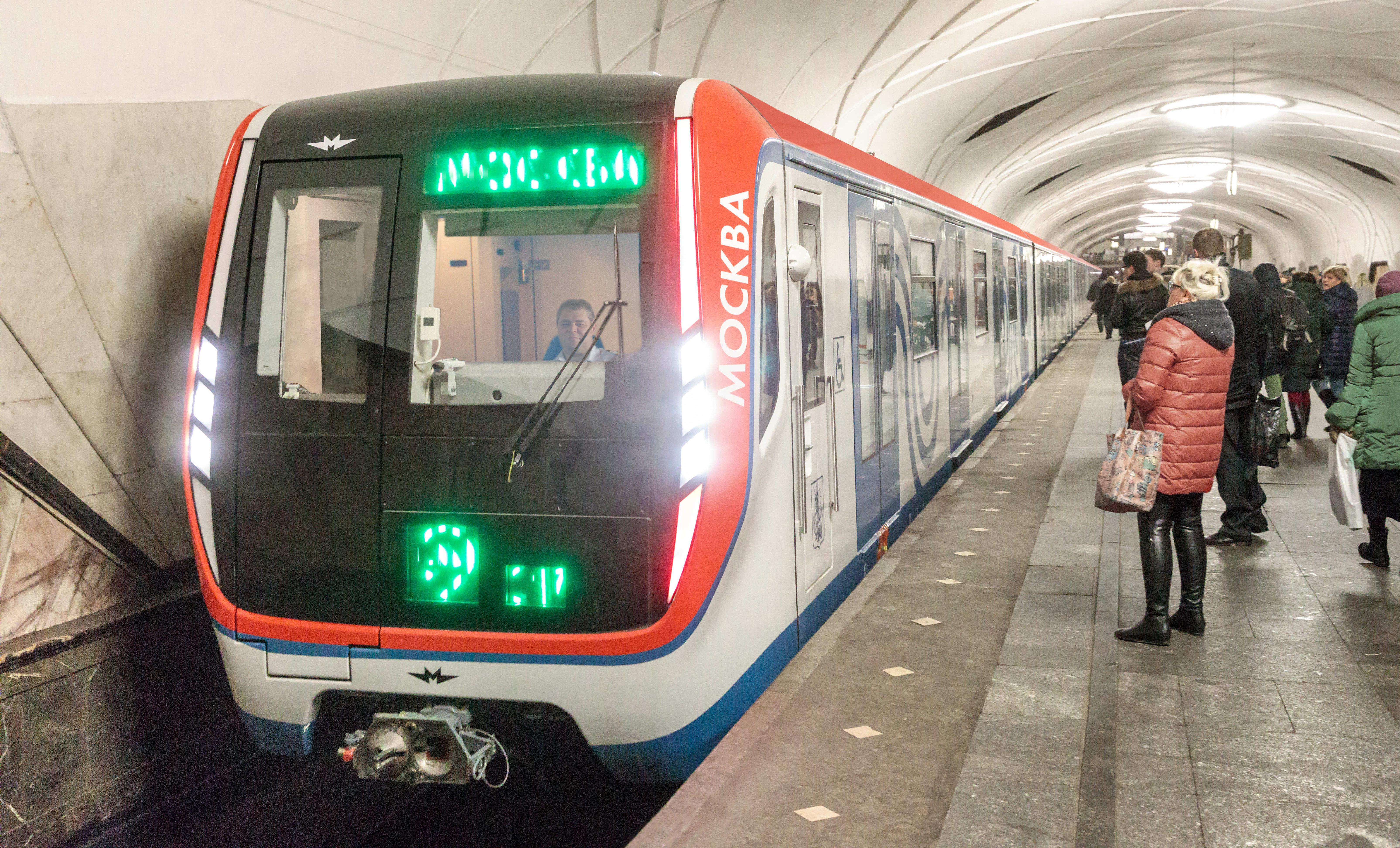 El tren de metro Moskvá, ya en servicio en el sistema de transporte público de la capital rusa