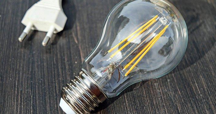 Una lámpara incandescente