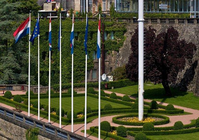 Banderas de Luxemburgo y la UE