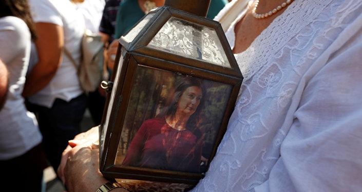 Protestas contra el asesinato de la periodista Daphne Caruana Galizia en Valetta, la capital de Malta