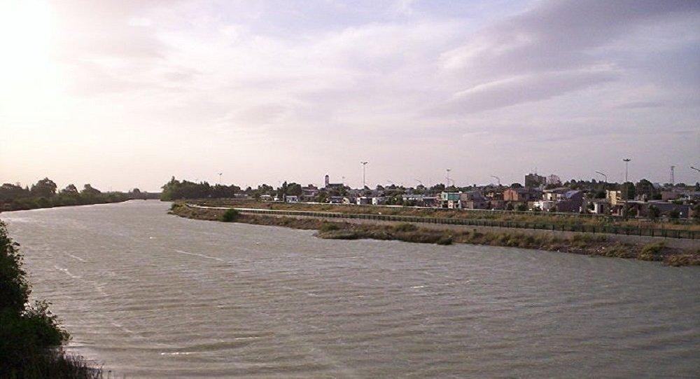 El río Chubut en Argentina