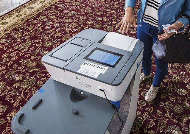 Una urna electrónica (imagen referencial)