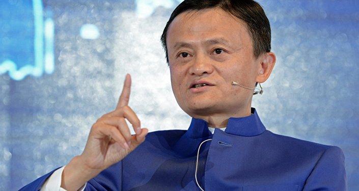Jack Ma, fundador de Alibaba en el Foro Económico Internacional de San Petersburgo (SPIEF) 2015, Rusia