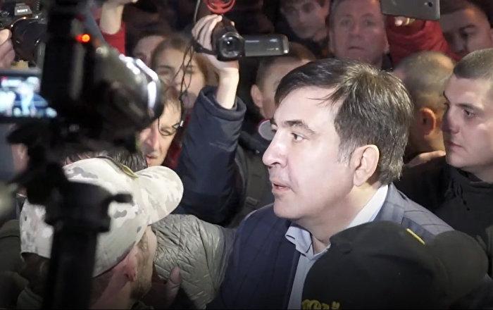 Mijaíl Saakashvili, exgobernador de la provincia de Odesa y expresidente de Georgia durante las protestas ucranianas