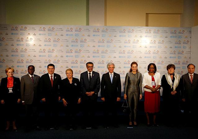 Participantes de la Conferencia Mundial sobre Enfermedades No Transmisibles