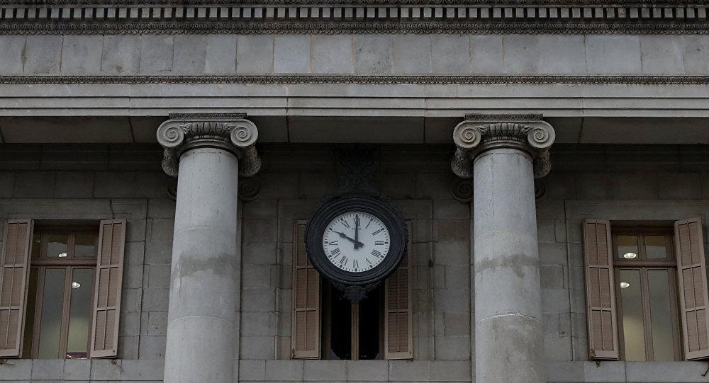 El reloj en el Ayuntamiento de Barcelona (magen referencial)
