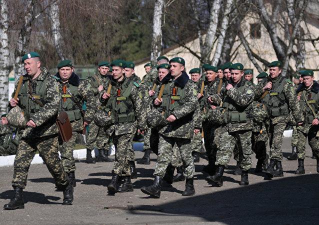 Agentes fronterizos de Ucrania