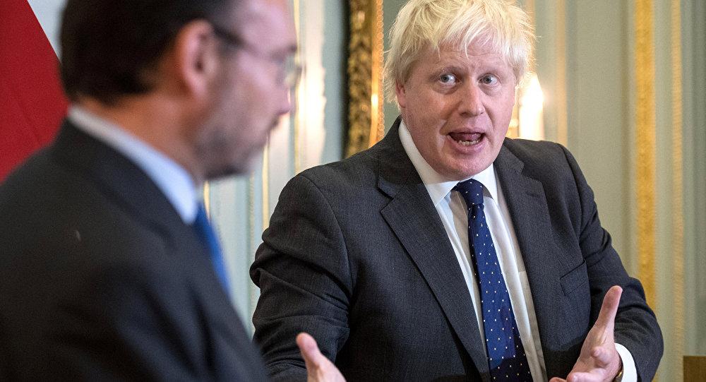 Luis Videgaray, canciller de México y Boris Johnson, ministro de Exteriores del Reino Unido