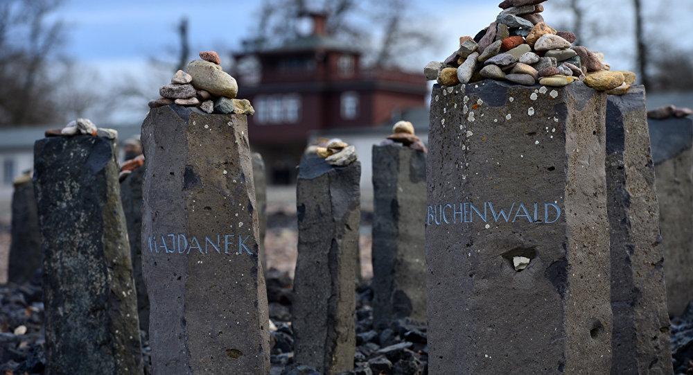 Homenaje a los campos de concentración Majdanek y Buchenwald, Alemania