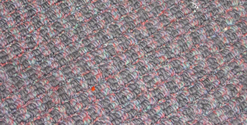 Una alfombra sintética