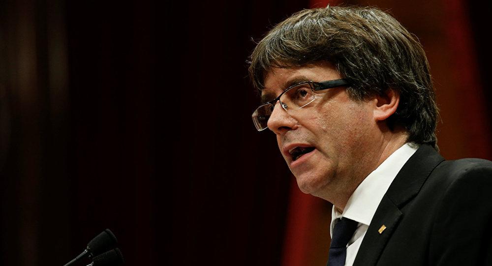 Carles Puigdemont, presidente del Gobierno catalán