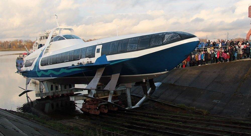 Kometa 120M, el primer barco hidroala ruso de nueva generación