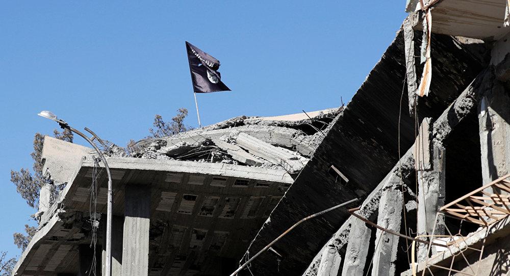 La bandera del grupo terrorista Daesh (imagen referencial)