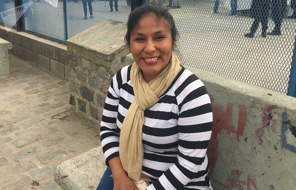 Mirella Churqui, una de las delegadas de la Villa 31