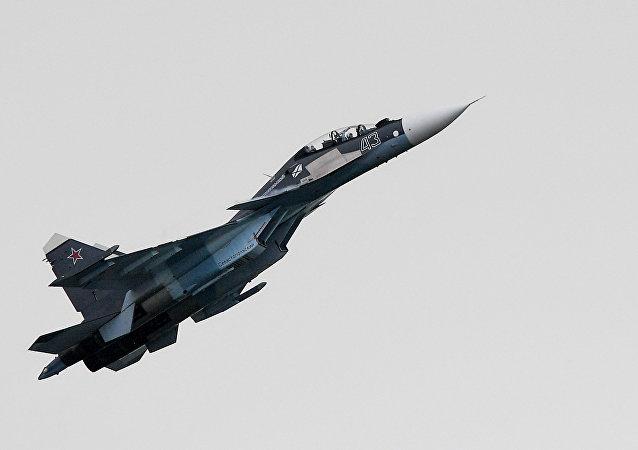 El caza ruso Su-30SM