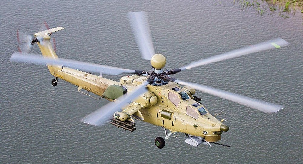 El helicóptero Mi-28UB